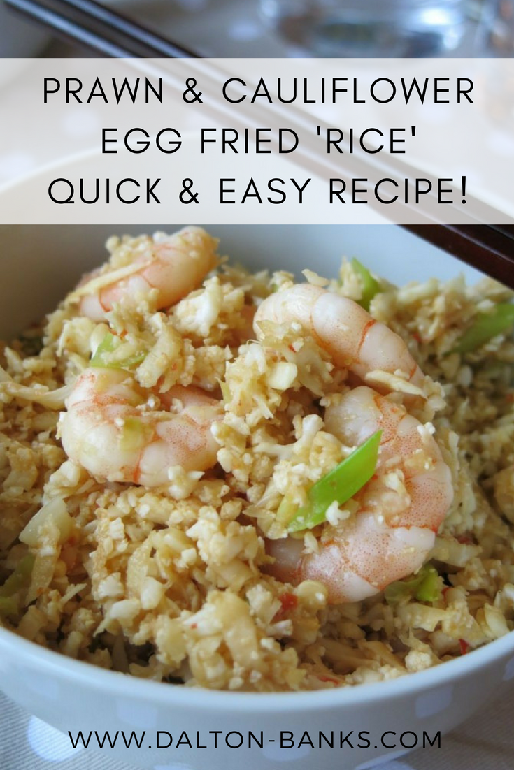A quick and easy recipe for cauliflower egg fried rice. A great healthy alternative!