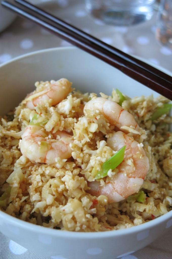 Cauliflower egg fried rice recipe