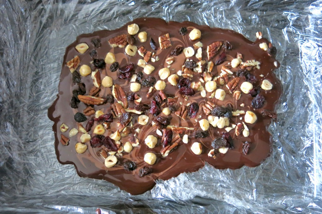 Luxury fruit and nut chocolate