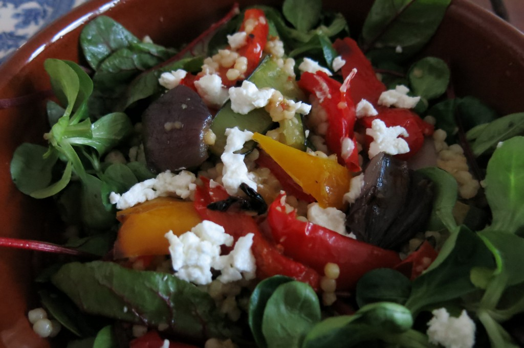 Warm Roasted Vegetable and Goats Cheese Salad Recipe