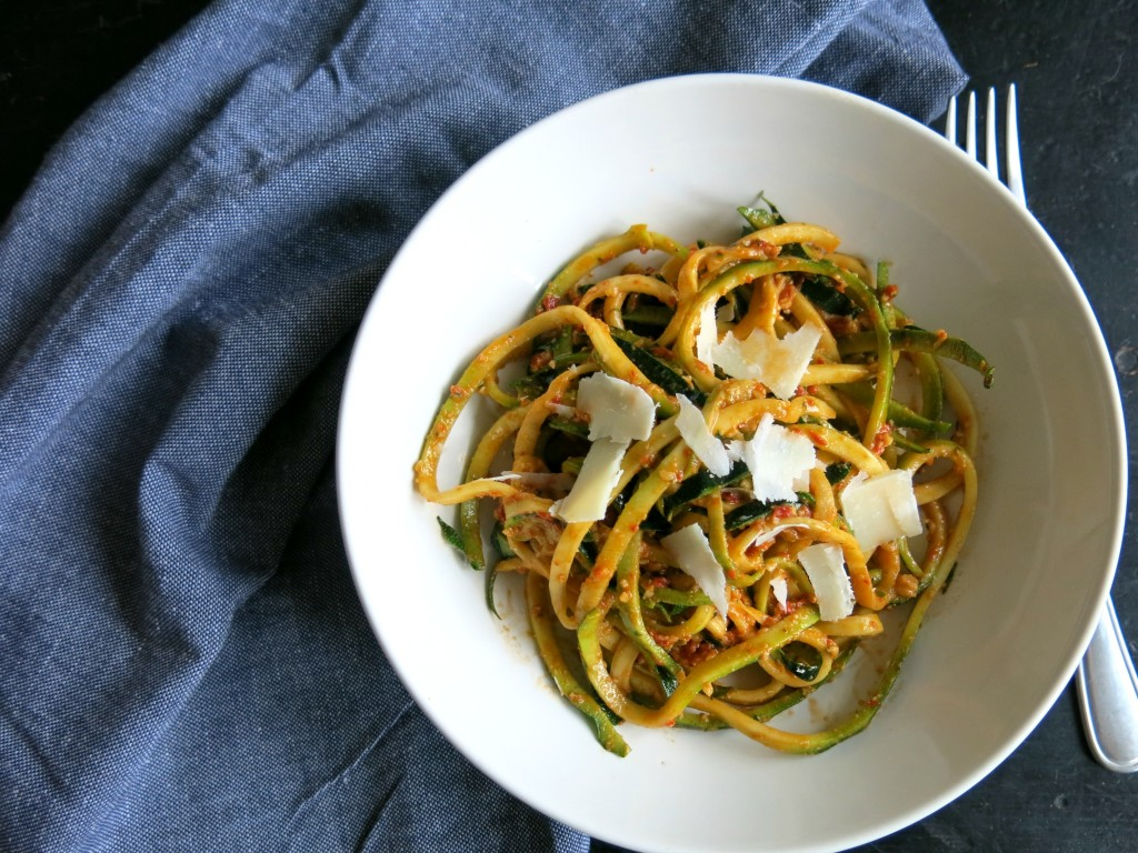 Courgetti and Red Pepper Pesto Recipe