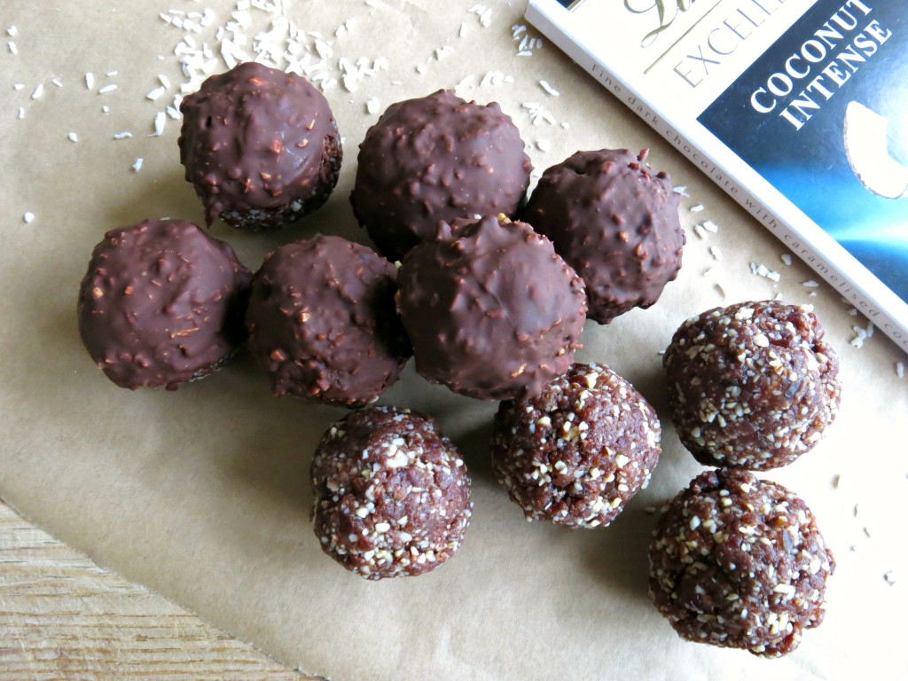 Cacao and cherry energy balls