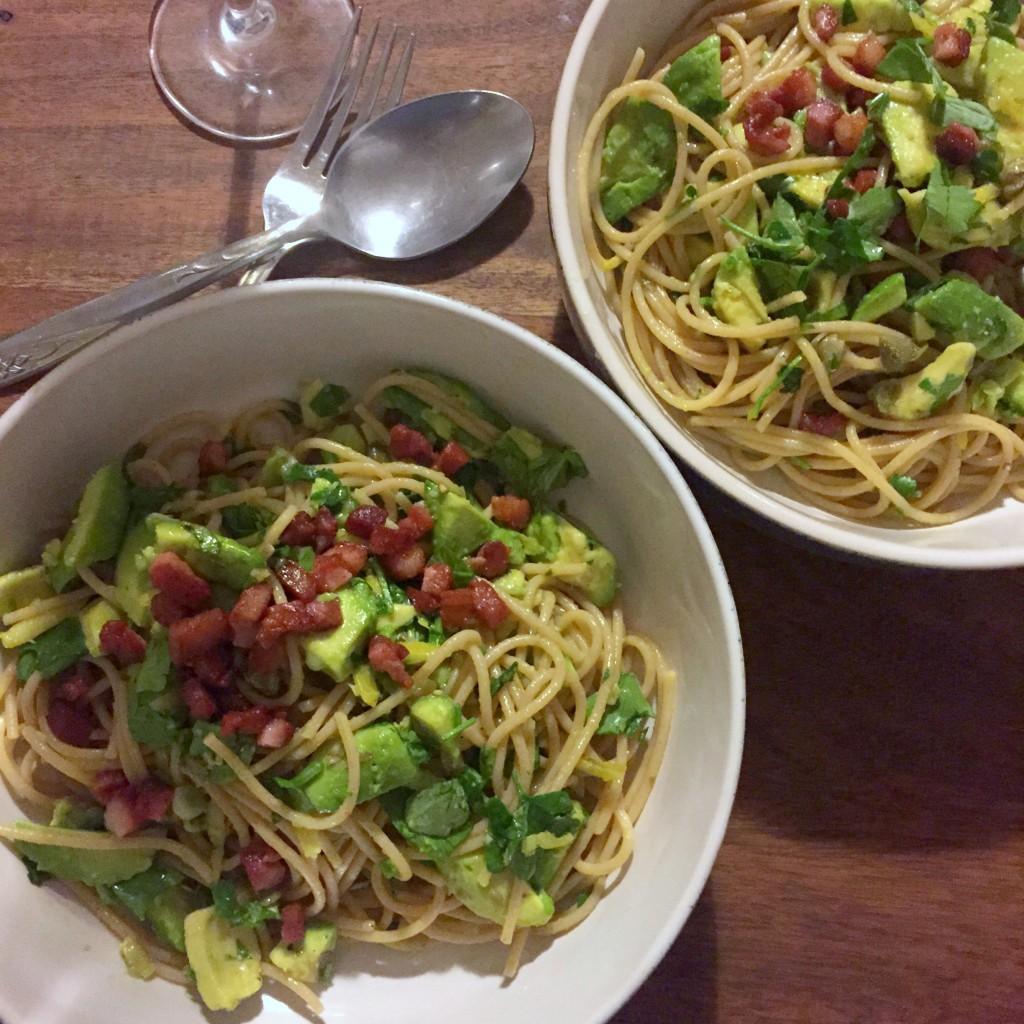 Avocado and lemon zest spaghetti recipe