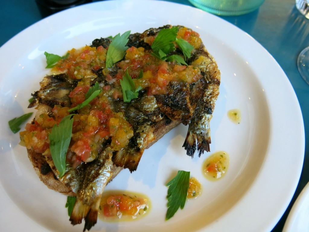 Review of Coin Laundry, Exmouth Market - Sardines on toast