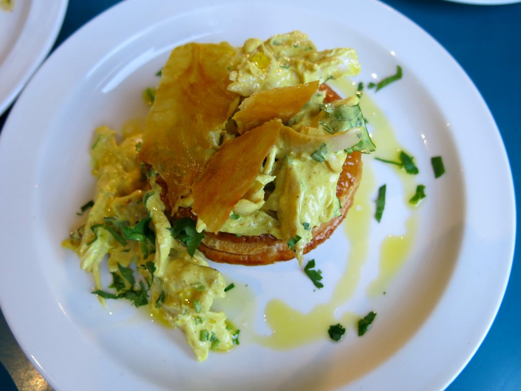 Review of Coin Laundry, Exmouth Market - coronation chicken