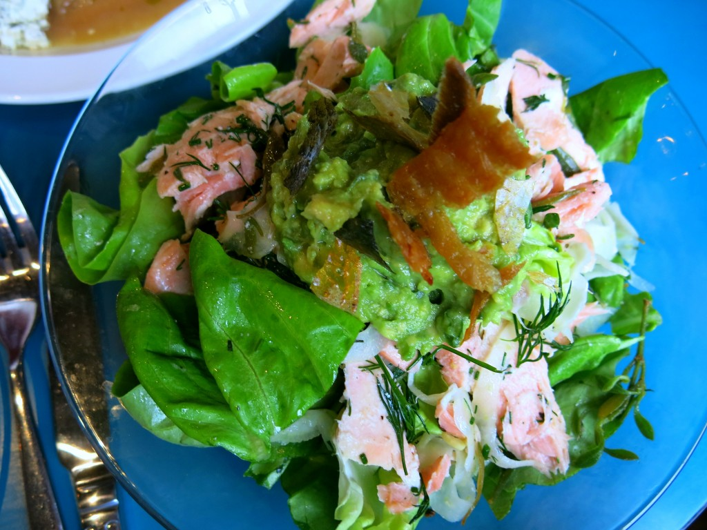 Review of Coin Laundry, Exmouth Market - Salmon and avocado salad