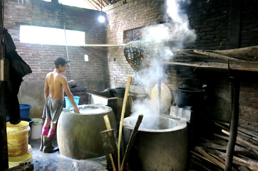 Making tofu in Borobudur-Java