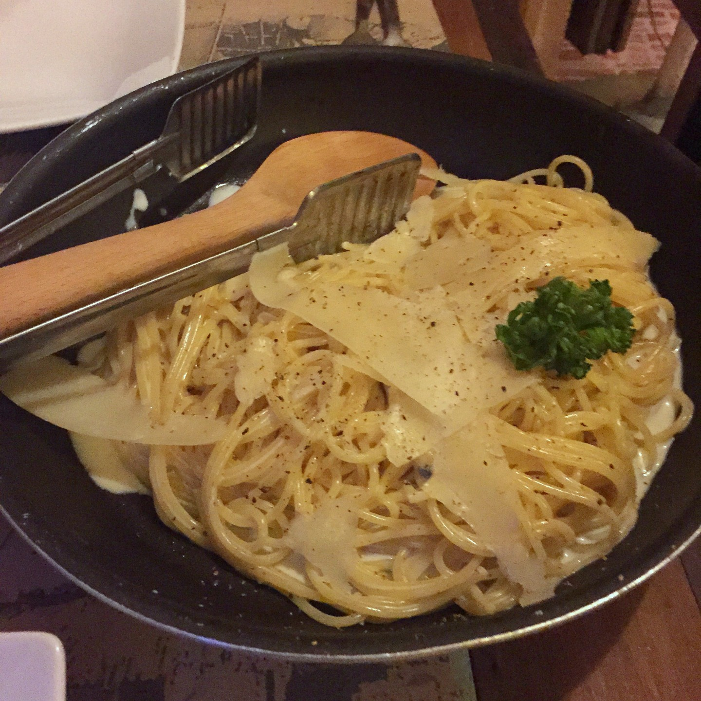 Delicious pasta at Shanti Shanti on the island of Koh Lanta in Thailand.