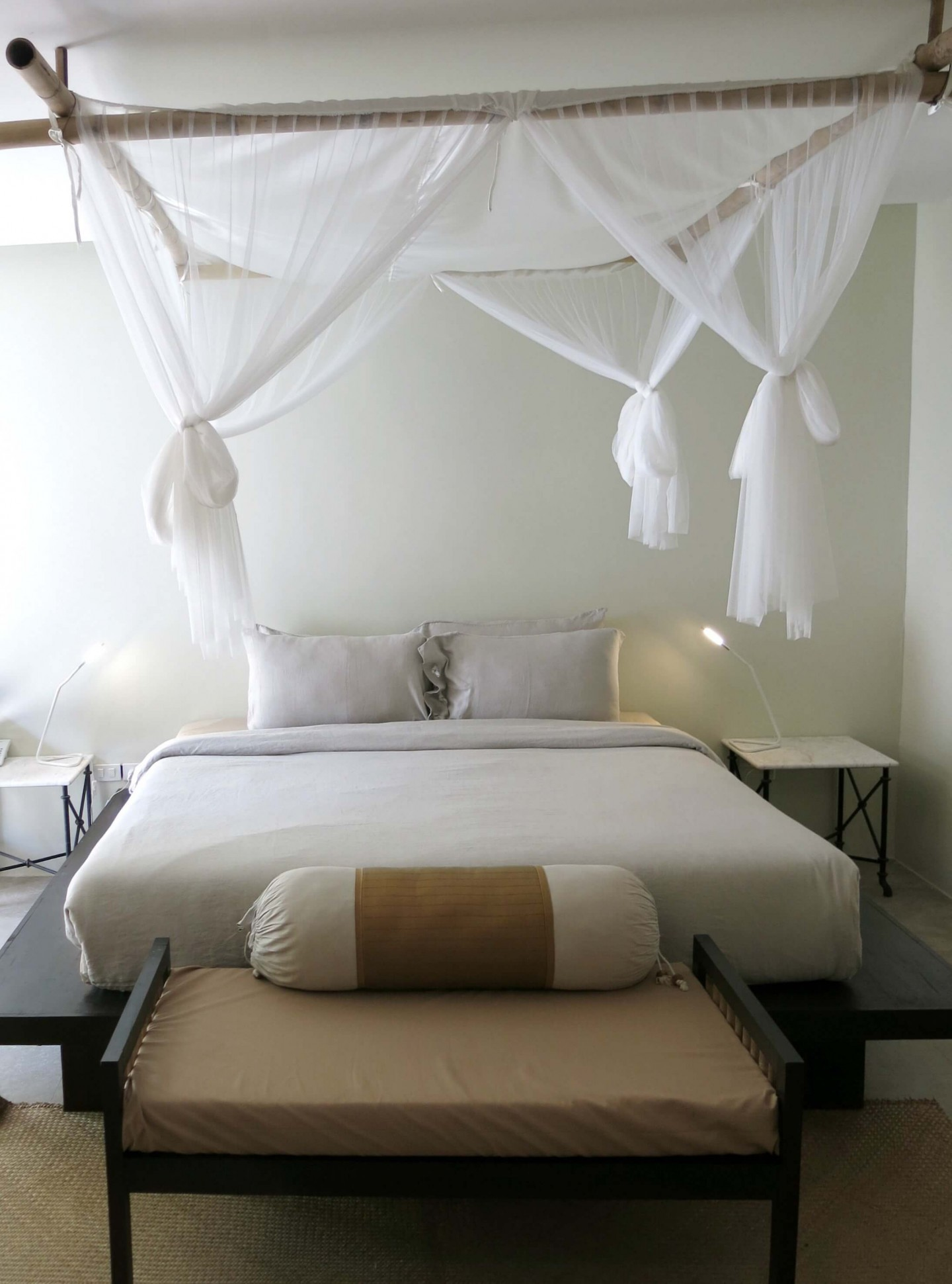 The minimalist rooms at the Sri Lanta Resort on Koh Lanta.