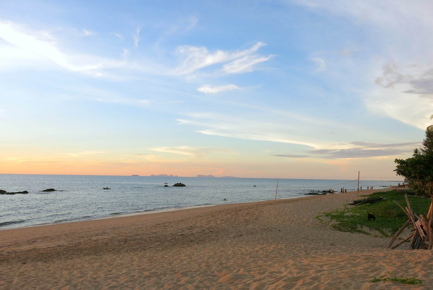 Beautiful sunsets on the island of Koh Lanta in Thailand. This island is a place to relax.