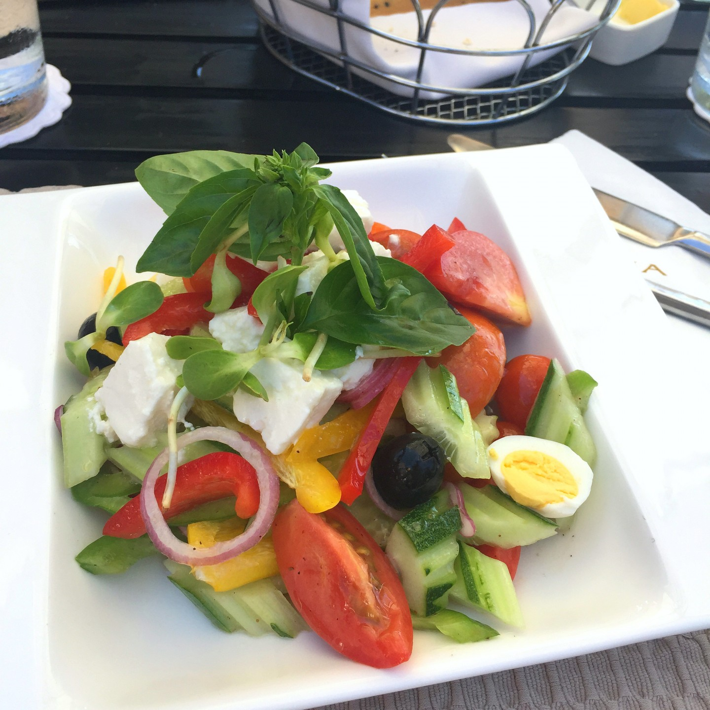 A delicious salad for lunch at The Layana Resort and Spa on Koh Lanta.