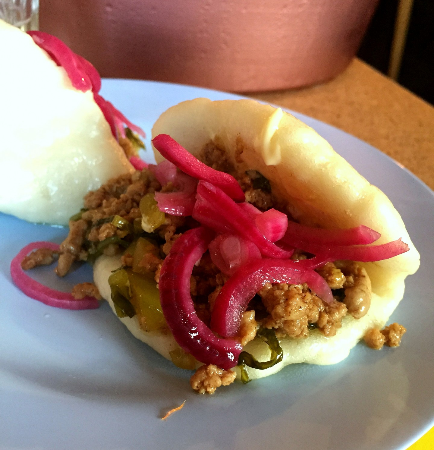 The pork mince bao at Ling Ling's supperclub with kewpie mayo was so delicious!