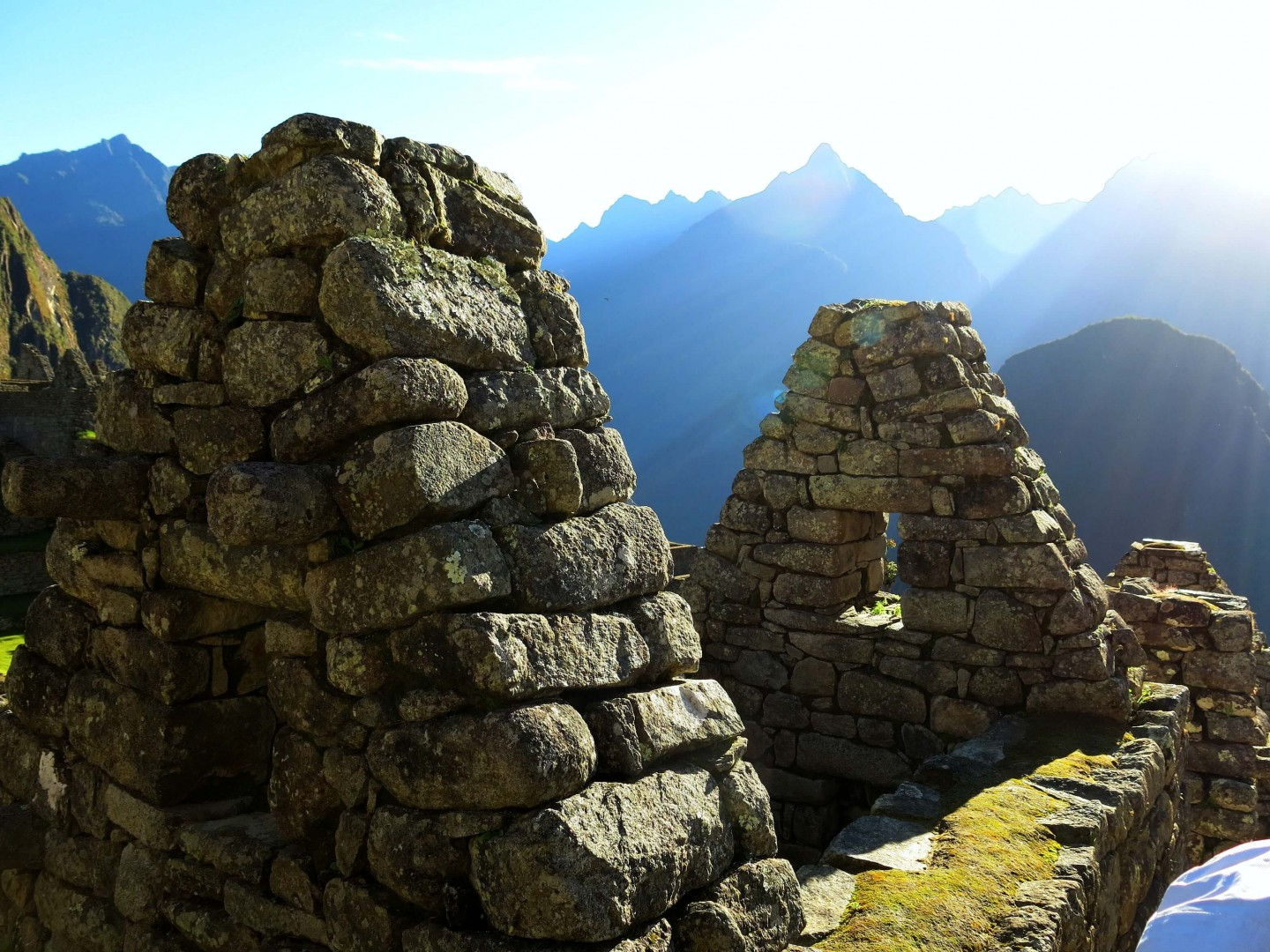 The sunrise over the Inca ruins at Machu Picchu, Peru.