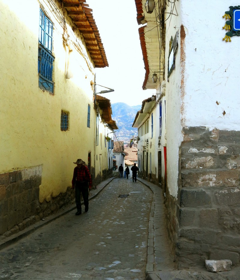 The cobbled street of Cusco, Peru