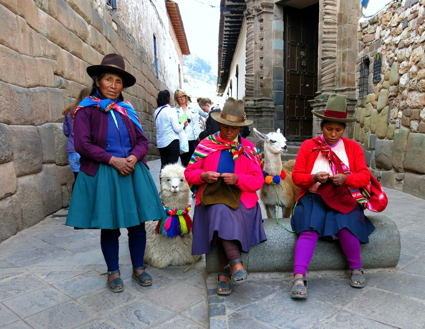 Inca women in Cusco Peru