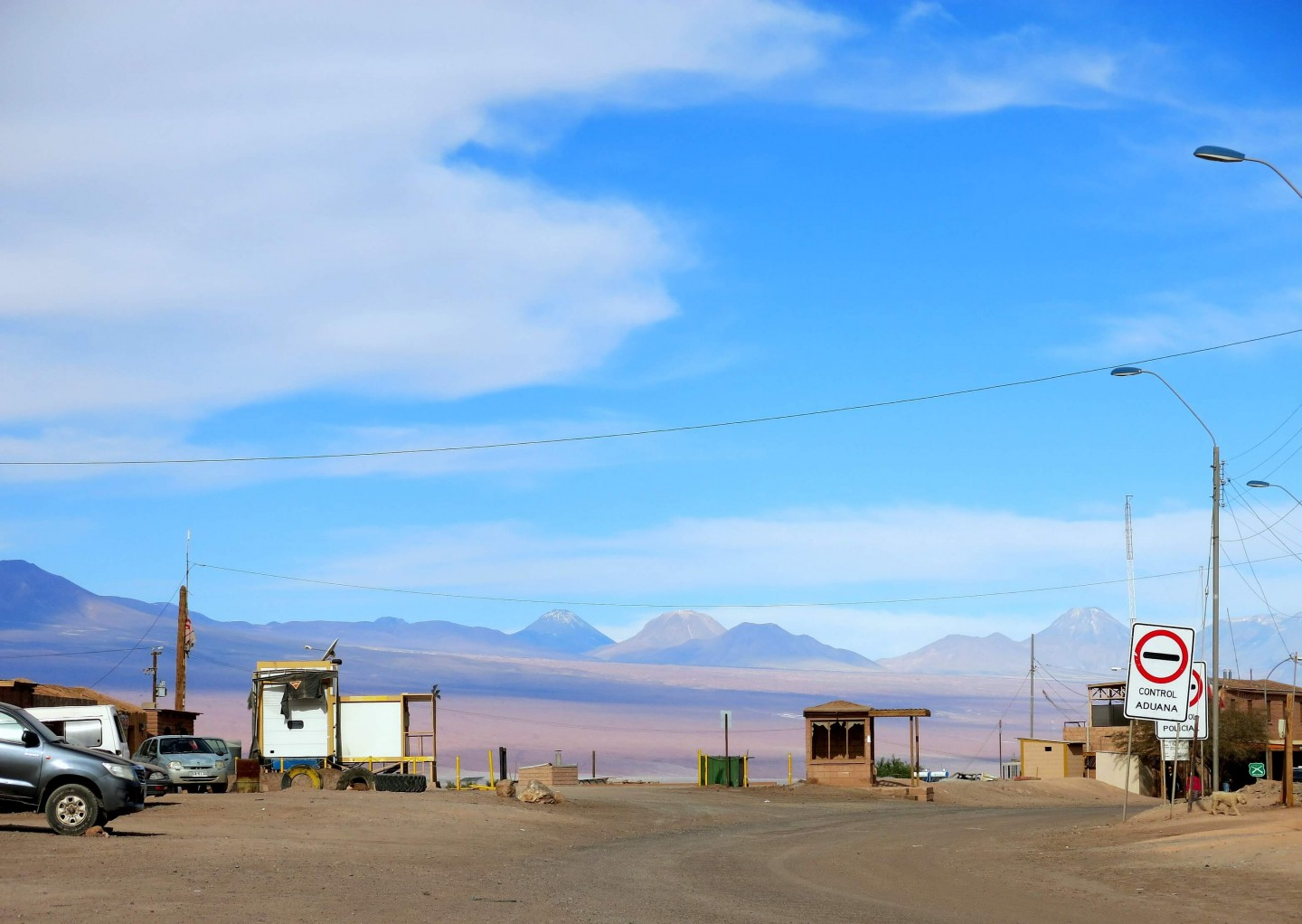 The town of San Pedro de Atacama sits rights in the middle of the beautiful landscape!