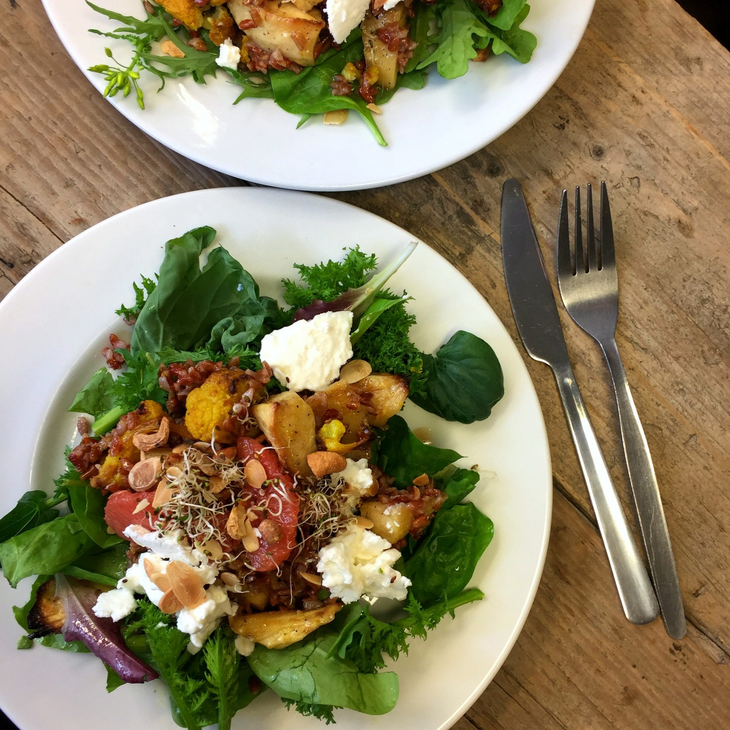 Beautiful fresh salads and soups fill the menu at Skip Garden Kitchen in Kings Cross.