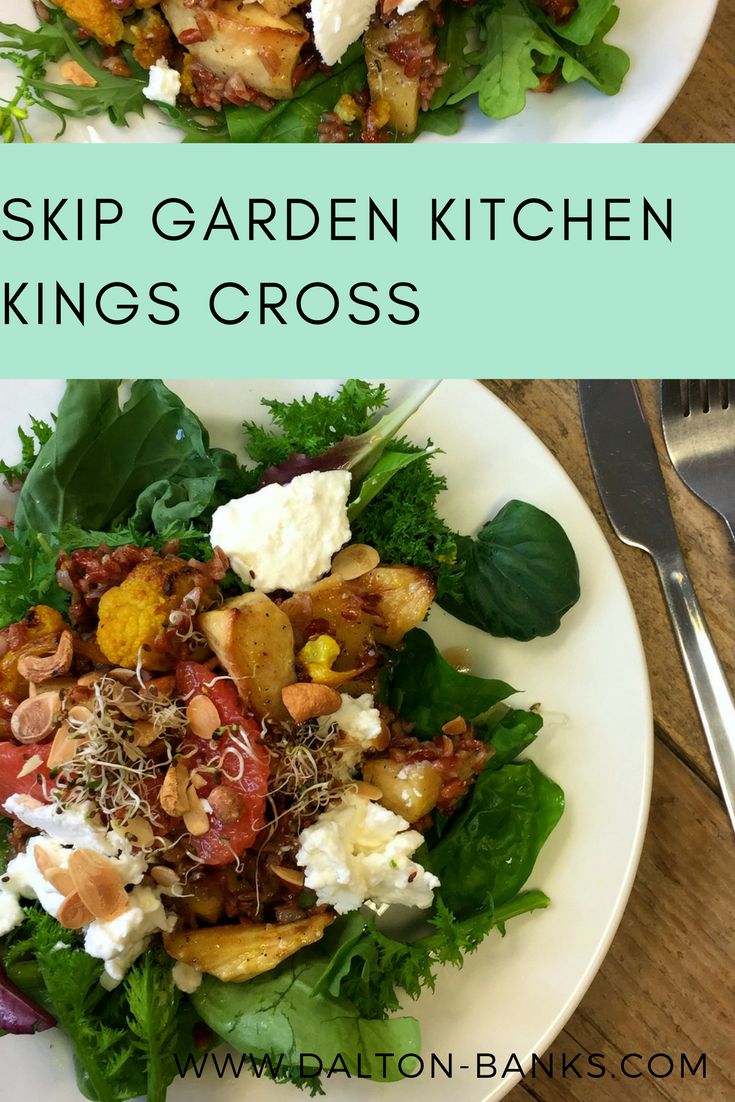 Delicious fresh food at Skip Garden Kitchen, Kings Cross.