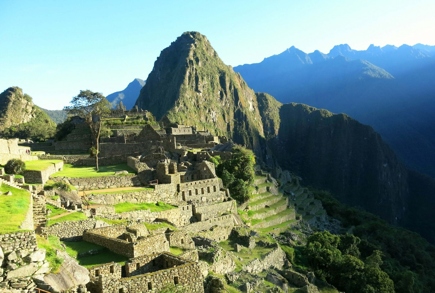 Reaching the top of Machu Picchu in time for sunrise. This was an amazing part of our 4 day trek!