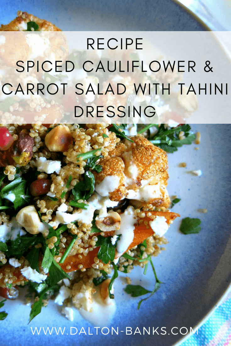 Spiced Cauliflower And Carrot Salad With Tahini Dressing Recipe