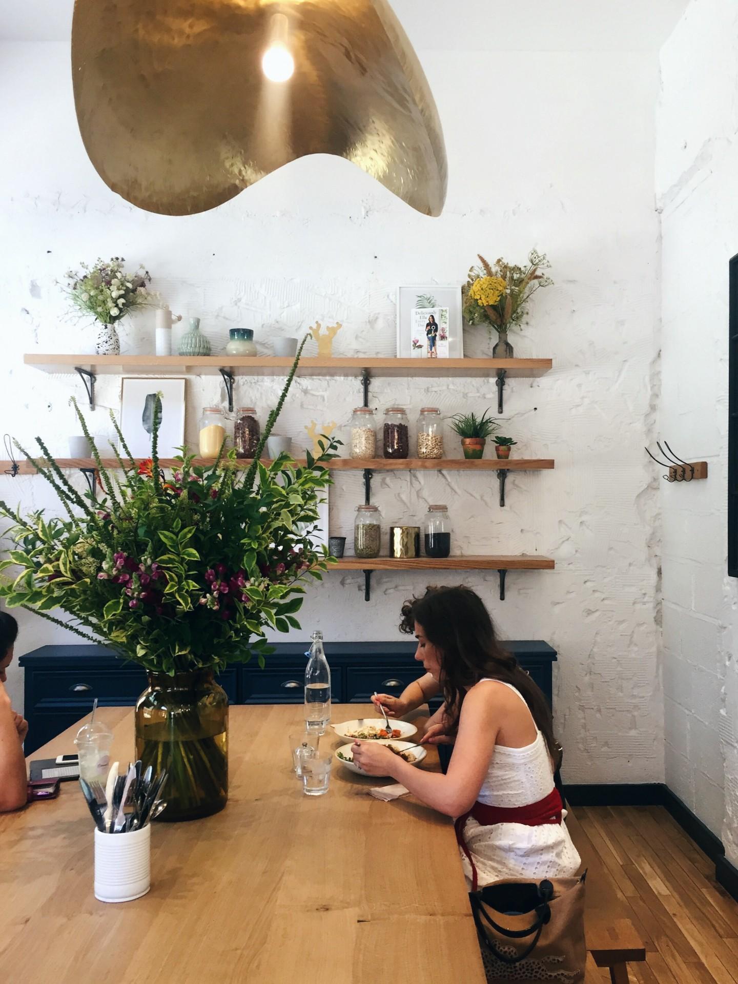 The beautiful interiors at The Mae Deli near Bond Street.