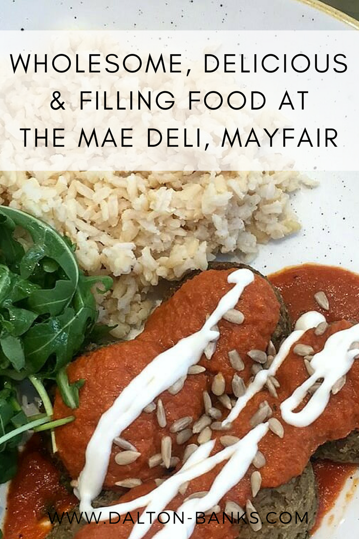 A delicious lunch at The Mae Deli in Mayfair.