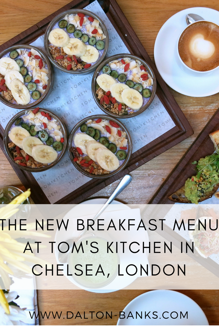 The new breakfast menu at Tom's Kitchen in Chelsea, London.
