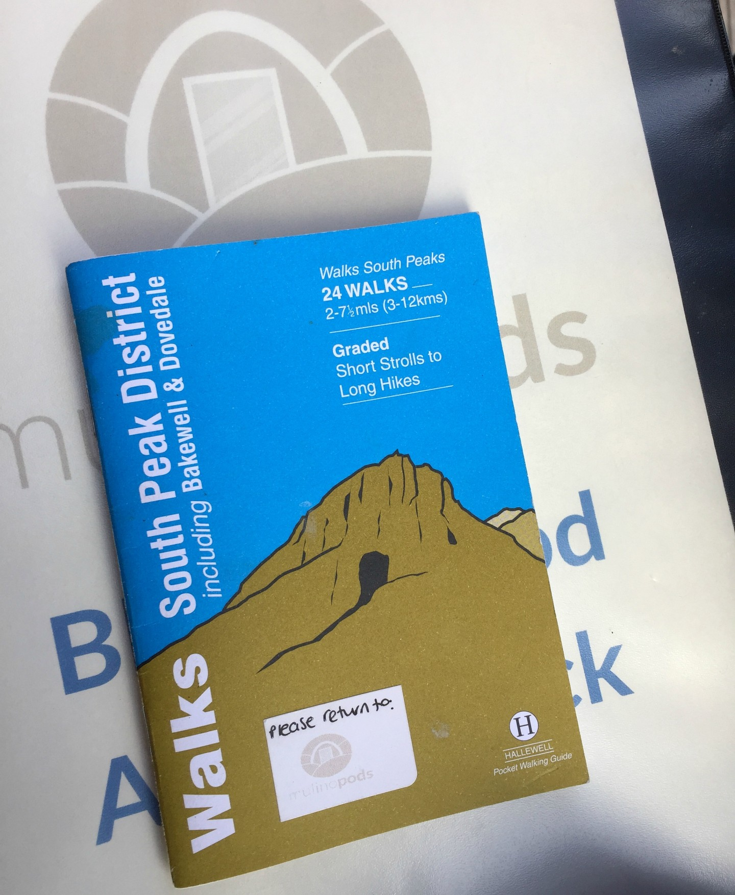 The pocket walking guide we used for our weekend in the Peak District