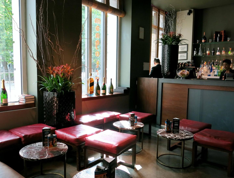 The spacious bar area at Thai restaurant Mango Tree in London.