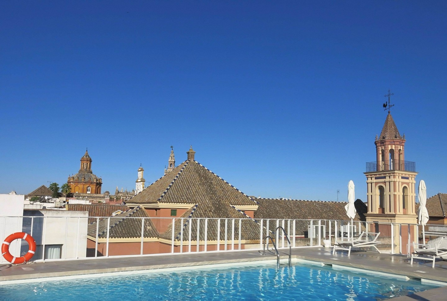 Hotel Fernando III is in the heart of the old town of Seville. It has an amazing rooftop pool!