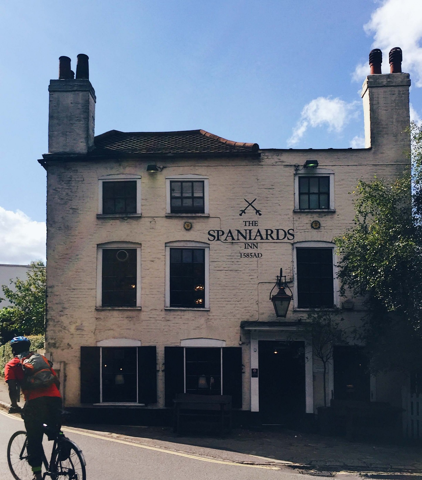 This historic Spaniards Inn pub at the top of Hampstead Heath. It serves great food!