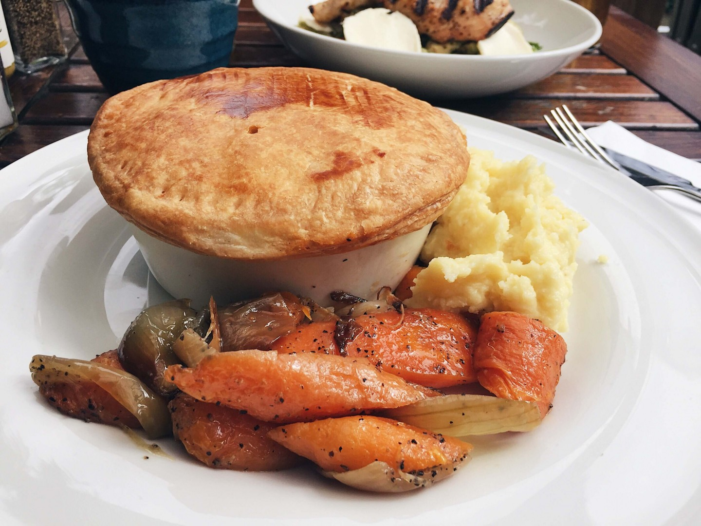 Venison and beef pie with port and juniper from The Spaniards Inn on Hampstead Heath. There perfect spot for a pub lunch after a walk!