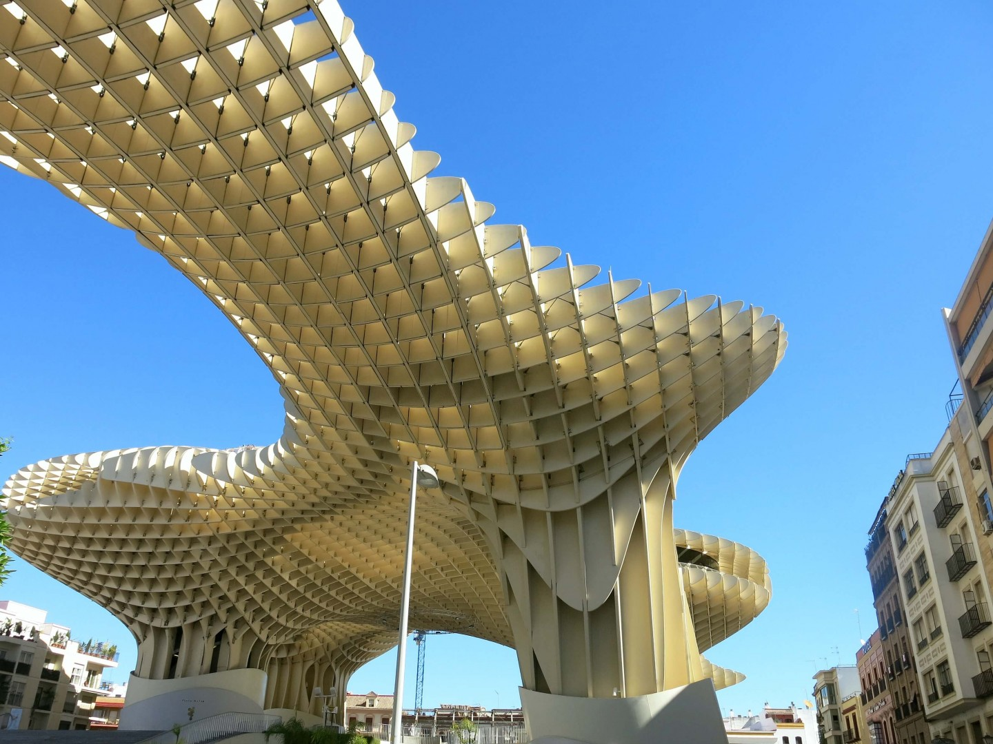 A great spot for panoramic views of Seville is the Metropol Parasol. It's a pretty cool bit of architecture!
