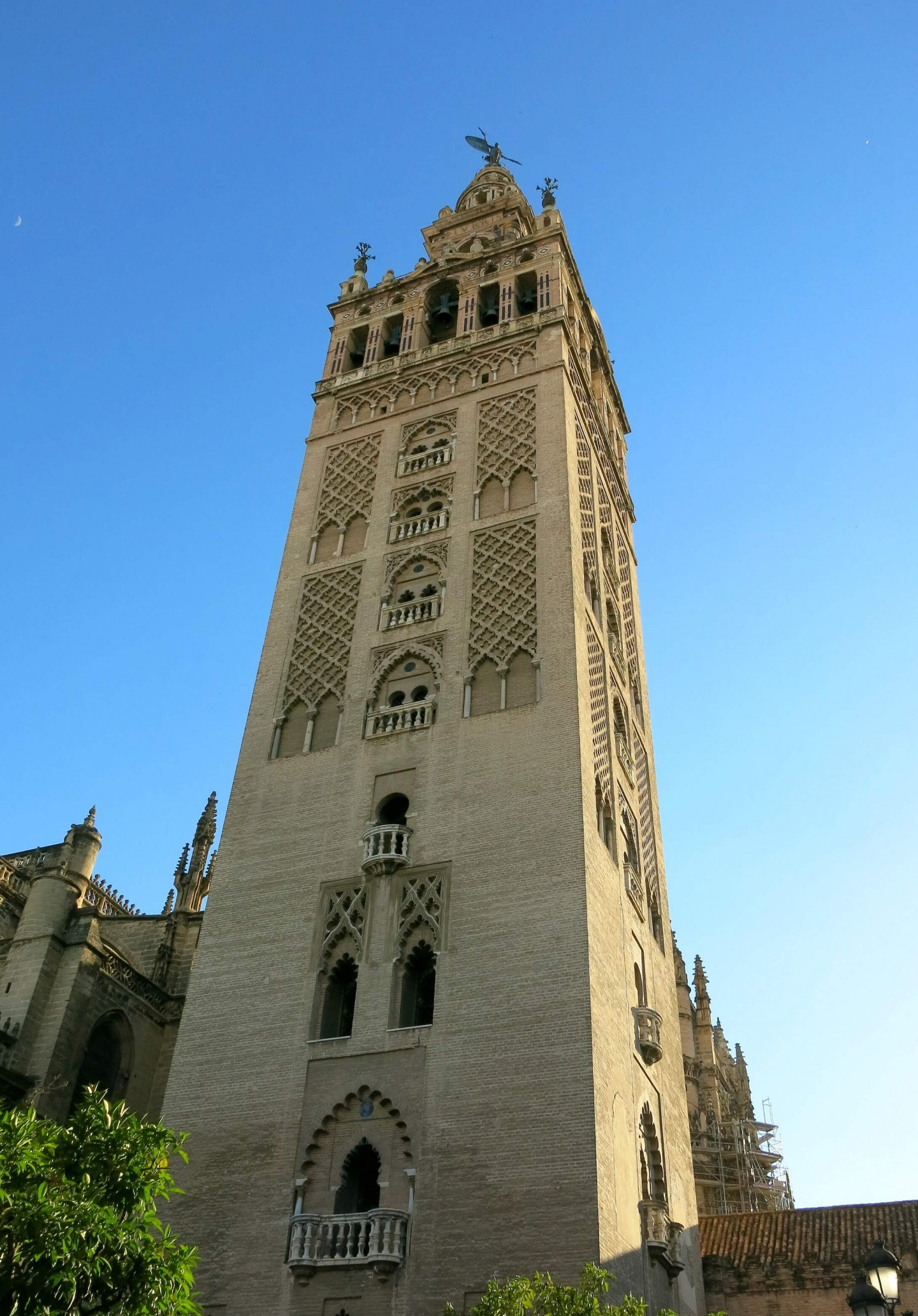 Get panoramic views of Seville from the top of The Giralda tower at Seville Cathedral. Find out other place to get great views over on Dalton-Banks.co.uk