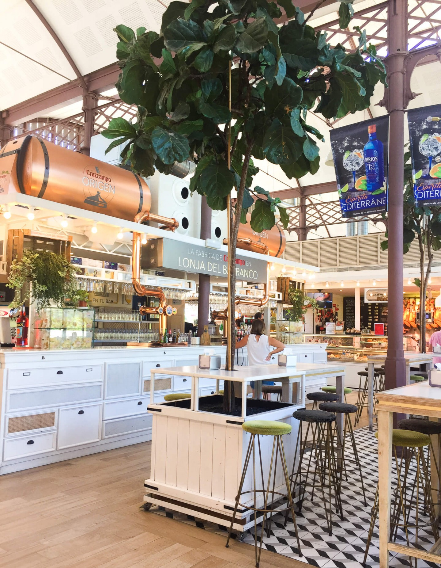 Mercado Lonja del Barranco is on our list of top places to eat in Seville, Spain. There lots of choice include lots of yummy tapas.