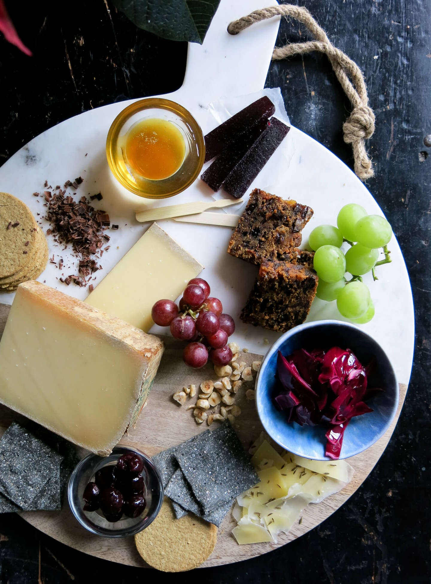 How to make the perfect Christmas cheeseboard, including lots of different textures and flavours like chocolate and cumin.
