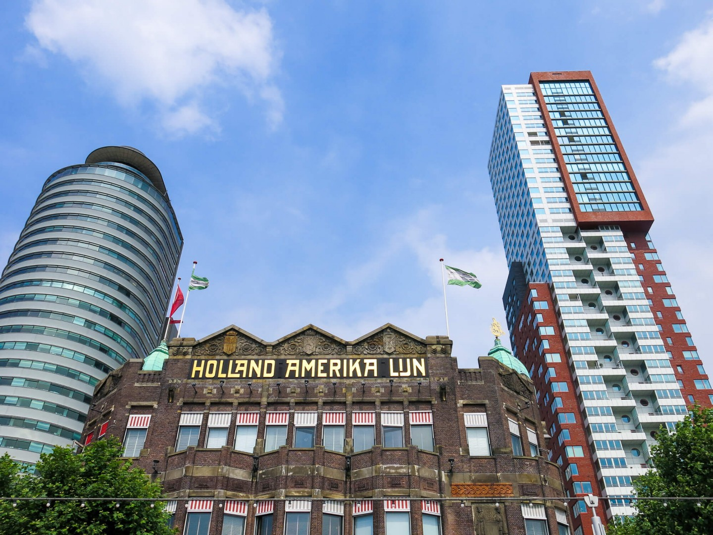 The old and new architecture in Rotterdam.