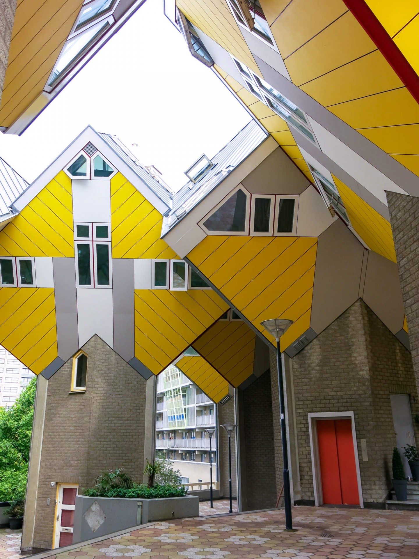 The Cube houses are a set of houses built in Rotterdam designed by architect Piet Blom. One of the reasons we loved Rotterdam as a city break!