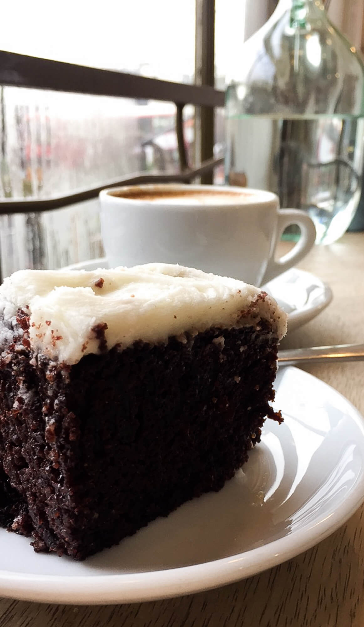 Luscious Guinness cake from St David Coffee House in Forest Hill.