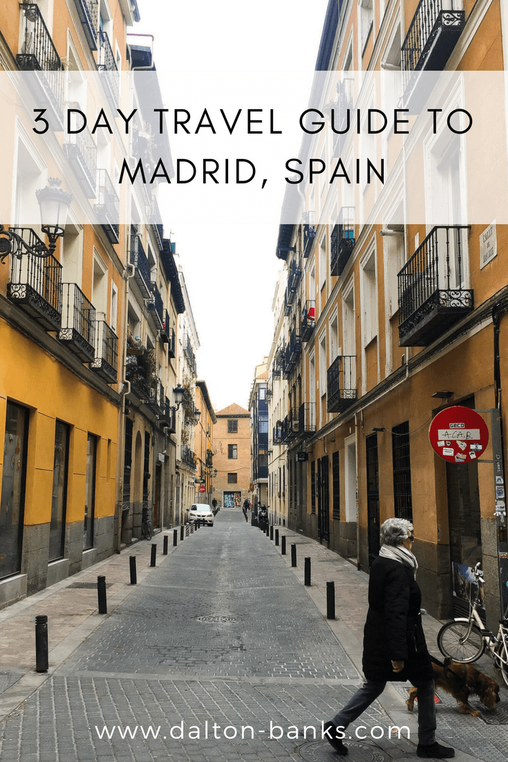 Three day travel guide to Madrid, Spain. Including what to do and where to eat. Great guide for seeing Madrid on a Budget.