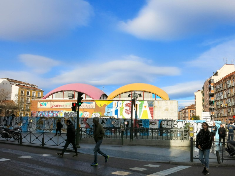 If you're in Madrid on a Saturday, make sure you go to Mercado de la Cebada by La Latina Metro. Great food market in Madrid. This three day guide to Madrid will tell you the best things to do.