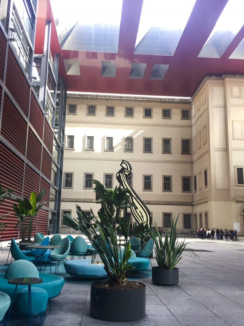 The Museo Nacional Centro de Arte Reina Sofía is by Atocha train station. This is a stunning building filled with modern art. 3 day guide to Madrid.