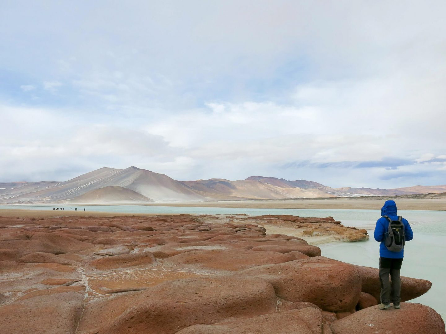 Stunning landscapes at Laguna Piedras Rojas or the red rocks. We stopped here on our way to the Atacama Salt Flats.