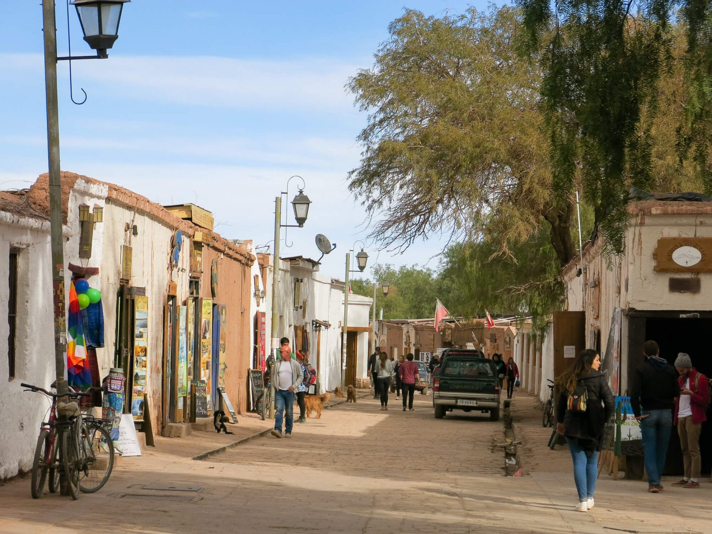 The town of San Pedro de Atacama in Chile. This is a great base to do your tours from when exploring the Atacama Desert.