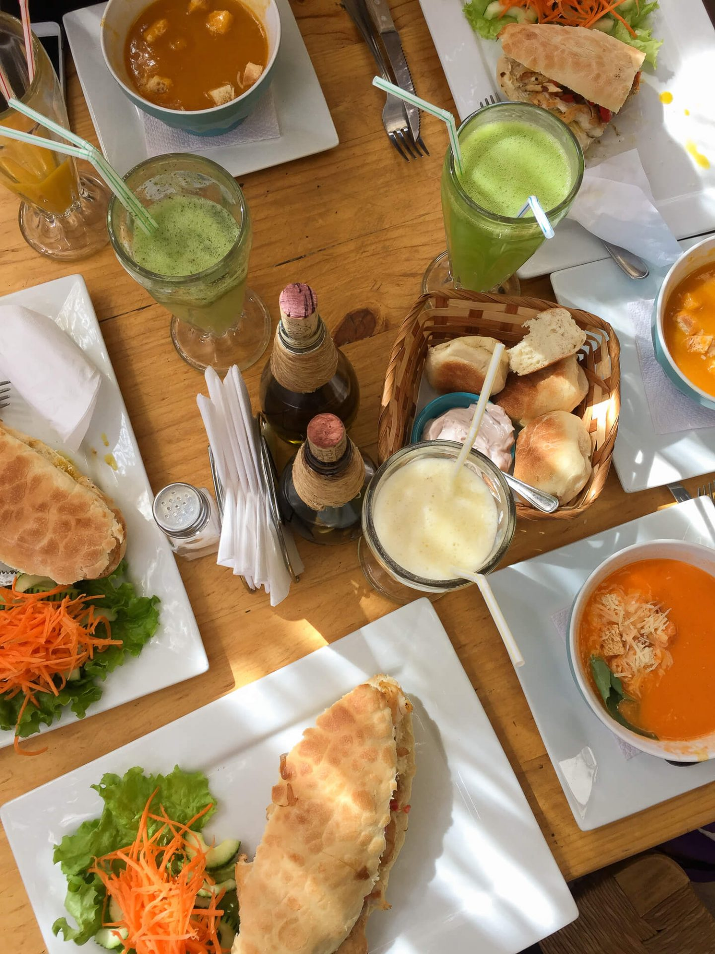 The food in San Pedro de Atacama. There are lots of different restaurants and cafes to chose from in this town in Chile.