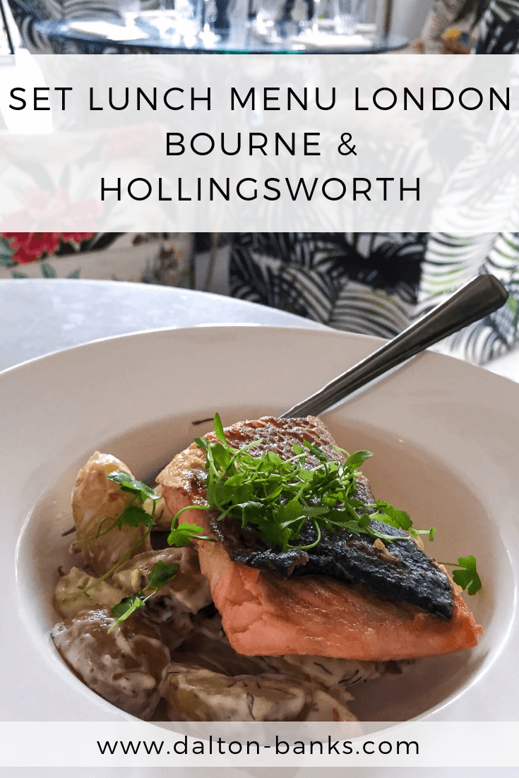 Review of Bourne And Hollingsworth Set Lunch Menu. A great London set lunch menu.