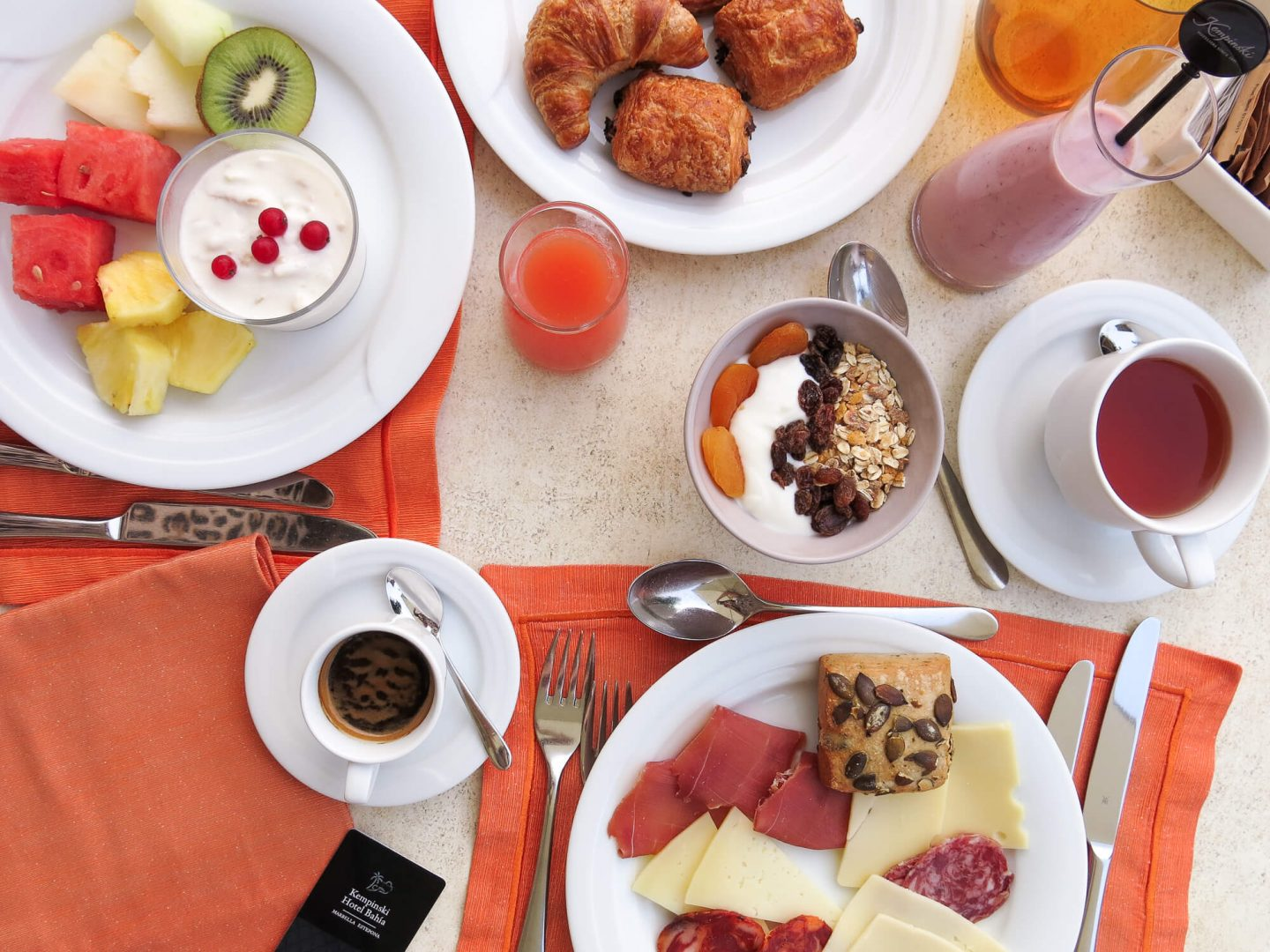 An incredible hotel breakfast at Kempinski Hotel Bahía, Spain