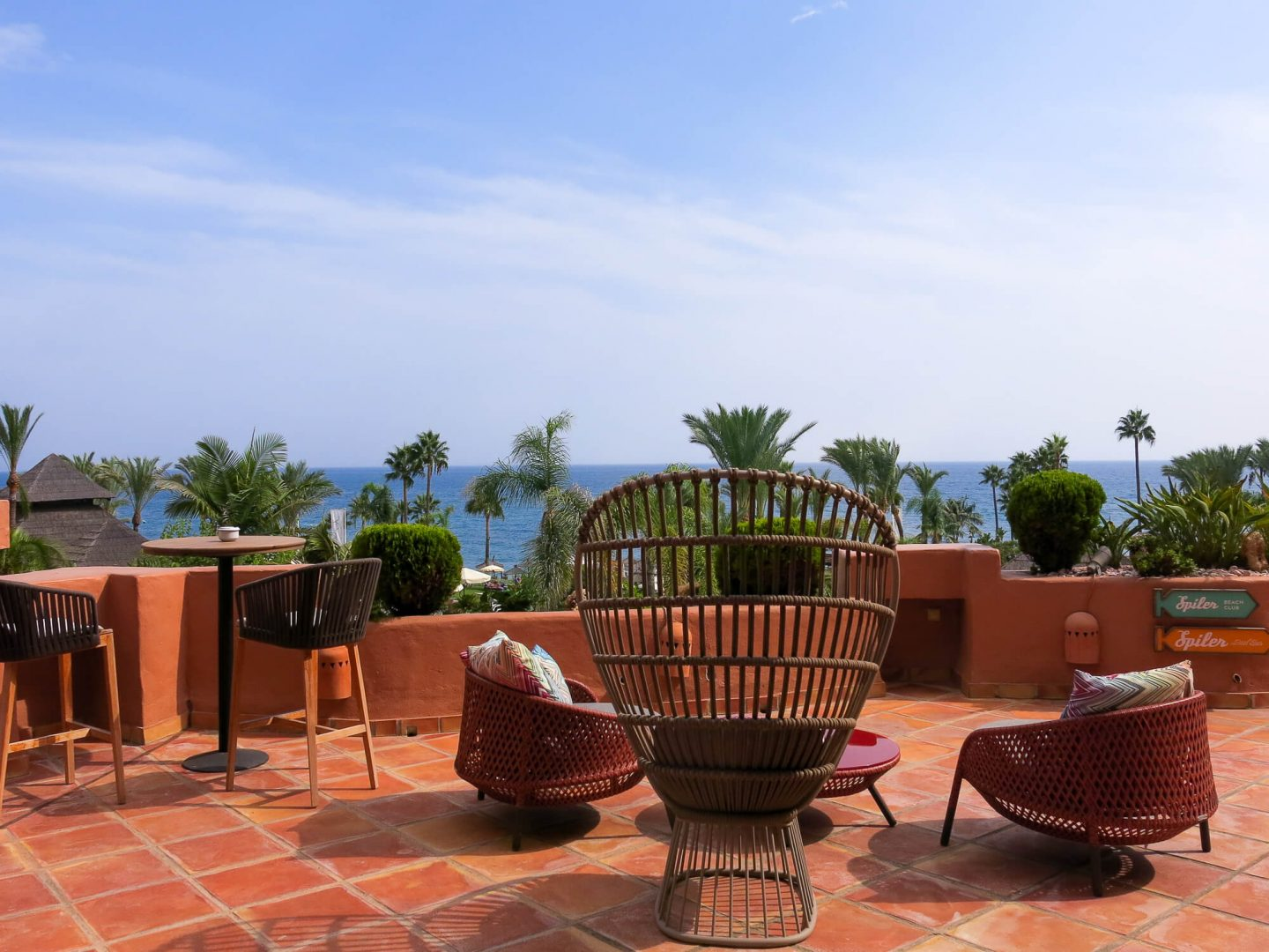 View of the sea from Kempinski Hotel Bahía, Spain. Luxury hotel near Marbella.