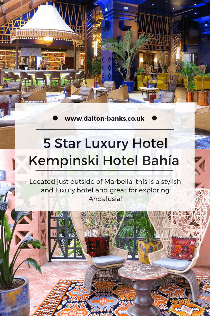 5 star luxury hotel near Marbella. Full review of Kempinksi Hotel Bahía, Spain. This Kempinski hotel is on the beach, has 3 swimming pools, 3 restaurants, a luxury spa, a golf concierge.